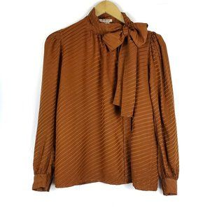 Vintage Yves Saint Laurent Rive Gauche Bow Blouse